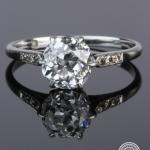 Diamond single-stone ring. image 2