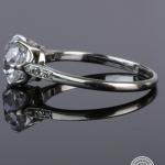 Diamond single-stone ring. image 3