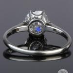 Diamond single-stone ring. image 4