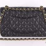 Chanel black classic handbag image 2