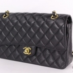 Chanel black classic handbag image 3