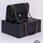 Chanel black classic handbag image 4