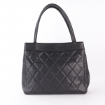 Chanel caviar quilted leather turnlock top handle handbag image 2