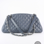 Chanel light blue caviar quilted leather handbag image 2