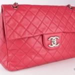 Chanel leather maxi jumbo shoulder bag image 3