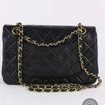 Chanel quilted leather classic double flap 23 shoulder bag image 2
