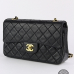 Chanel quilted leather classic double flap 23 shoulder bag image 3