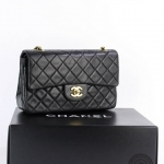 Chanel quilted leather classic double flap 23 shoulder bag image 4