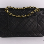 Chanel quilted leather classic double flap 26 shoulder bag image 2