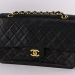 Chanel quilted leather classic double flap 26 shoulder bag image 3