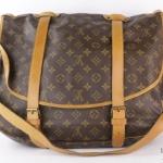 Louis vuitton monogramed saumur double straps shoulder bag image 2