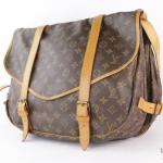 Louis vuitton monogramed saumur double straps shoulder bag image 3