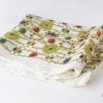 Chanel ivory/gold silk scarf image 2