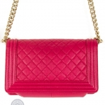 Chanel boy pink shoulder bag image 2