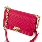 Chanel boy pink shoulder bag image 3