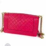 Chanel boy pink shoulder bag image 4