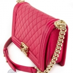 Chanel boy pink shoulder bag image 5