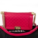 Chanel boy pink shoulder bag image 7