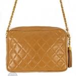 Chanel front slip pocket tan camera bag image 2