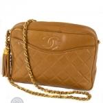Chanel front slip pocket tan camera bag image 3