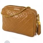 Chanel front slip pocket tan camera bag image 4