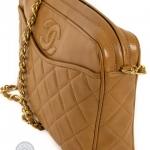 Chanel front slip pocket tan camera bag image 5
