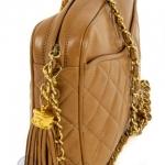 Chanel front slip pocket tan camera bag image 6