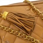Chanel front slip pocket tan camera bag image 7