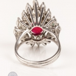 Red gemstone and diamond ring image 4