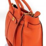 Mulberry bayswater bright orange small zipped bag image 3