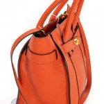 Mulberry bayswater bright orange small zipped bag image 4