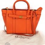 Mulberry bayswater bright orange small zipped bag image 5