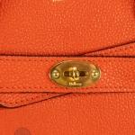 Mulberry bayswater bright orange small zipped bag image 6