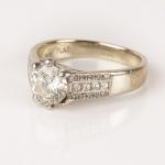 Diamond ring brilliant-cut diamond image 2