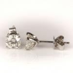 Pair of diamond single-stone earrings image 3
