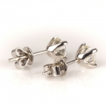Pair of diamond single-stone earrings image 4