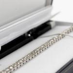Diamond bracelet. brilliant-cut diamond line image 3