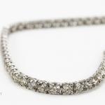 Diamond bracelet. brilliant-cut diamond line image 2