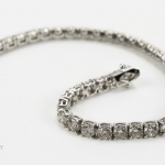 Diamond bracelet. brilliant-cut diamond line image 4