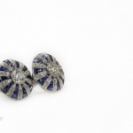 Pair of diamond and sapphire earrings image 5