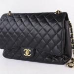 Chanel cavier maxi double flap shoulder bag image 3
