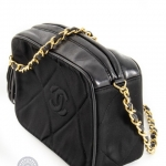 Chanel vintage camera tassel black shoulder bag image 5
