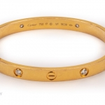 A diamond cartier love bangle image 2
