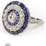 Diamond and sapphire ring image 2