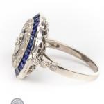 Diamond and sapphire ring image 3
