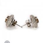 Pair of 18ct gold fancy diamond earrings image 2