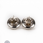 Pair of 18ct gold fancy diamond earrings image 3