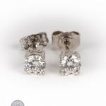 Pair of diamond stud earrings image 2