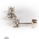 Pair of diamond stud earrings image 3