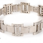 18ct gold diamond bracelet image 3